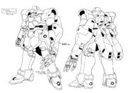 WMS-03 Maganac Auda Custom Lineart Front and Rear
