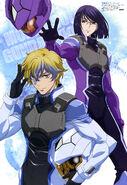 Gundam 00 Festival 10 Revision Poster 2 - Illustrated by Chiba Michinori