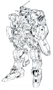 RX-81LA G-Line Light Armor M-MSV Lineart
