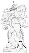 MS-06FS Zaku II Lineart
