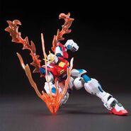 TBG-011B Try Burning Gundam (Gunpla) (With Burning Burst System Activated Action Pose 1)