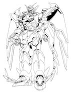 OZ-13MS Gundam Epyon Front View Lineart