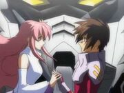Lacus Gives Kira the Freedom