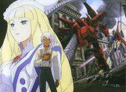Dianna Soreil, Loran Cechack and Eagail vs ∀ Gundam