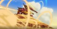 Flauros-Artillery mode firing