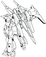 Lightning Gundam Full Burnern BW rear lineart