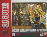 Robot Damashii Unicorn Gundam 03 Phenex box
