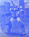 Gunpla MG FullArmorGundamBlueColor box