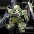 Unit c gunner zaku warrior