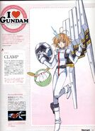 MS Girl Nu Gundam Illust by CLAMP