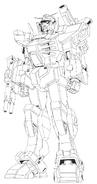 GN-000FA Full Armor 0 Gundam Lineart