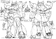 MS-14U Gelgoog (Outer Space Type) Sketches