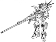 Gundam F90II Long Range Type Lineart