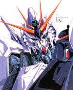 Nu Gundam Head Illust 3