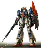 Zeta Gundam Front View Design