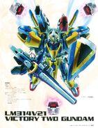 V2 Gundam Assault Buster as seen on Gundam MS Historica Vol 3