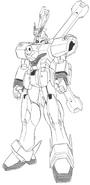 XM-X0 Crossbone Gundam X-0 Front Black and White
