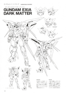 Gundam Exia Dark Matter Lineart 1