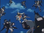Rasvehts surrounding gundams