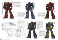 Gundam The Origin Mechanical Work Vol 1 MS-05 ZAKU I B