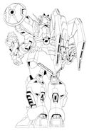 XXXG-01S2 Gundam Altron Back View Lineart