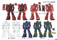 Gundam The Origin Mechanical Work Vol 1 MS-05 ZAKU I C