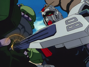 RX-79 attacking Zaku with Shield