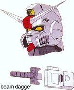 RX-78XX - Gundam Pixie - MS Head and Beam Dagger