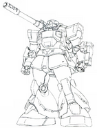 MS-09K-1 Dom Cannon lineart