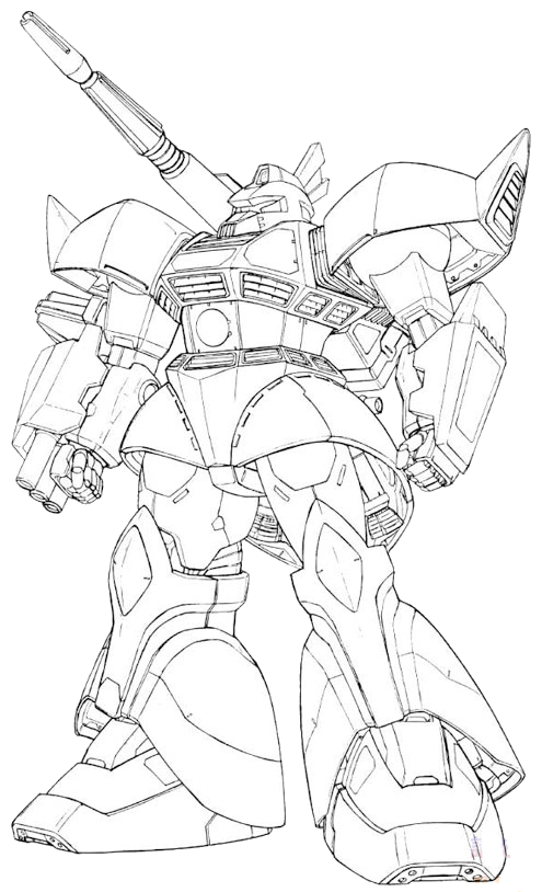 Zaku Lineart : Ms c gelgoog cannon the gundam wiki fandom powered