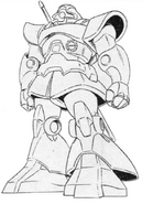 MS-09 Dom Lineart