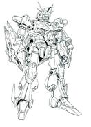 Odysseys Gundam Lineart Front