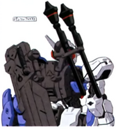 Gundam astaroth rear with panzer faust