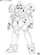 WMS-03 Maganac EW Lineart Front