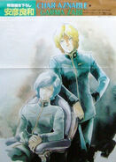 Garma Zabi and Char Aznable
