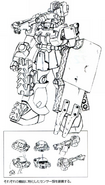 MS-06F Zaku II (Gunner) lineart