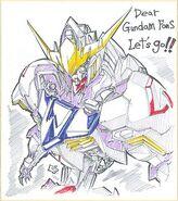 ASW-G-08 Gundam Barbatos cel concept art