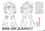 Gundam The Origin Mechanical Work Vol 1 MS-05 ZAKU I A