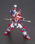 KMK-B01 Kamiki Burning Gundam (Gunpla) (Action Pose)