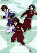 GSD Kira Shin and Athrun Illustration by Kenichi Ohnuki