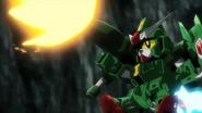 Snibal Gundam fires