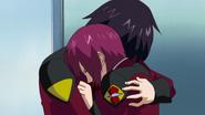 Shinn hugs Lunamaria