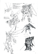 Wing Gundam Fenice Lineart 2