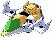 Winning Gundam Core Fighter above