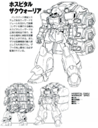 ZGMF-1000 Hospital ZAKU Warrior Lineart