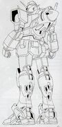 GN-000 - 0 Gundam - Back View Lineart