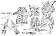 F90II-I Gundam F90II Intercept Type Lineart Intercept