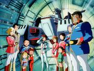 Mobile Suit Gundam Journey to Jaburo PS2 Cutscene 005 White Base Crew