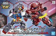 SDCS RX-78-2 Gundam & MS-06S Char's Zaku II