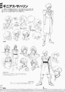Ginias Sahalin Lineart and Early designs